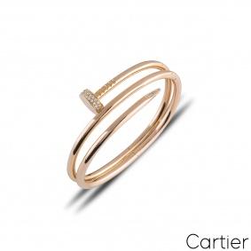 Cartier Juste Un Clou Diamond Bracelet Size 15 N6708415